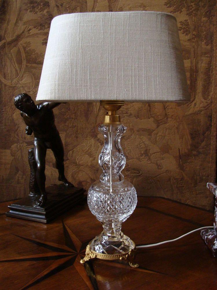 Unique edle Lampe Tischlampe Kristall Bronze Italien Vimar Rokoko Prunklampe Retro