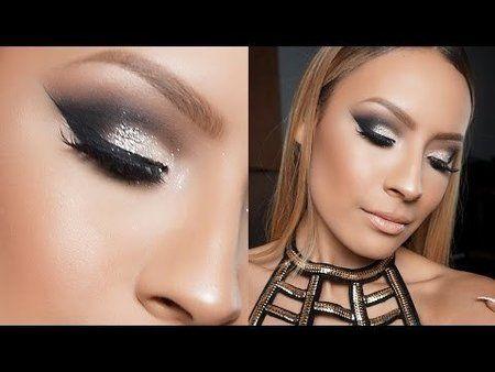 Smokey Glitter Eye Makeup Tutorial - #silversmokey #smokeyeye #glittereyemakeup #glittermakeup #makeuptutorial #eyemakeup #desiperkins