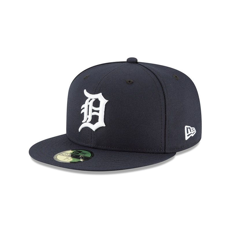 info for 78c43 f8670 Detroit Tigers New Era Authentic Collection Home On-Field 59FIFTY Fitted Hat  – Navy