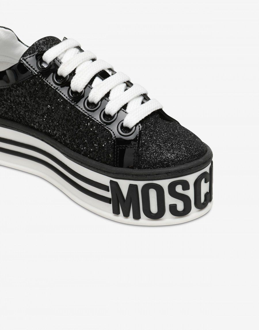 f5331134f57 Glitter Platform sneakers - SS19 Shoes - SS19 COLLECTION - Moods - Moschino