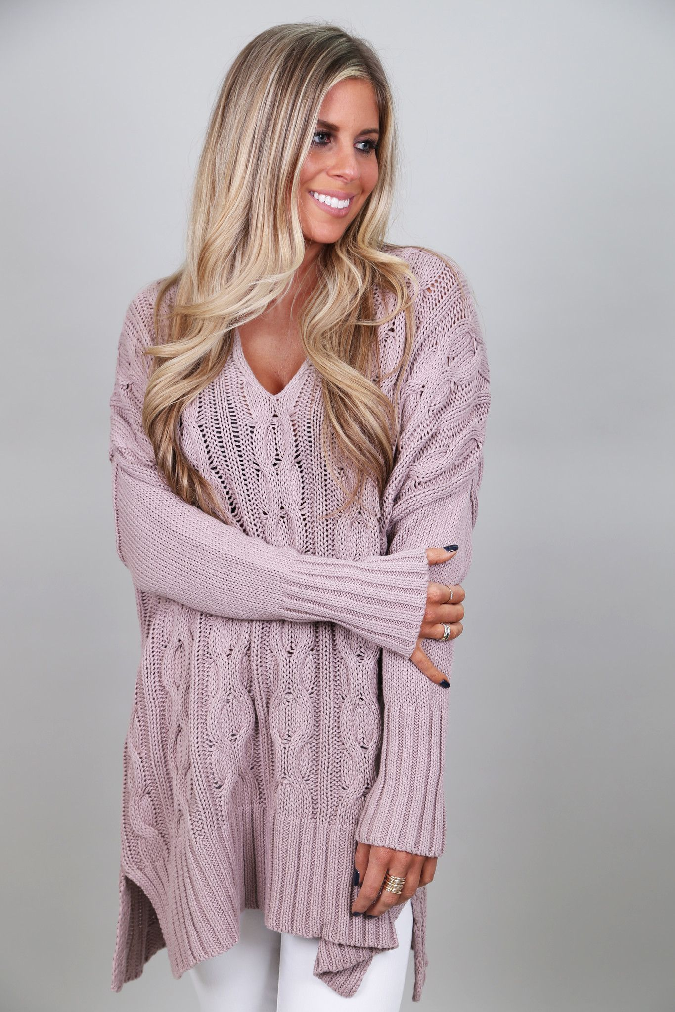 Every girl loves a big, slouchy, oh-so-comfy knit! This one hits ...