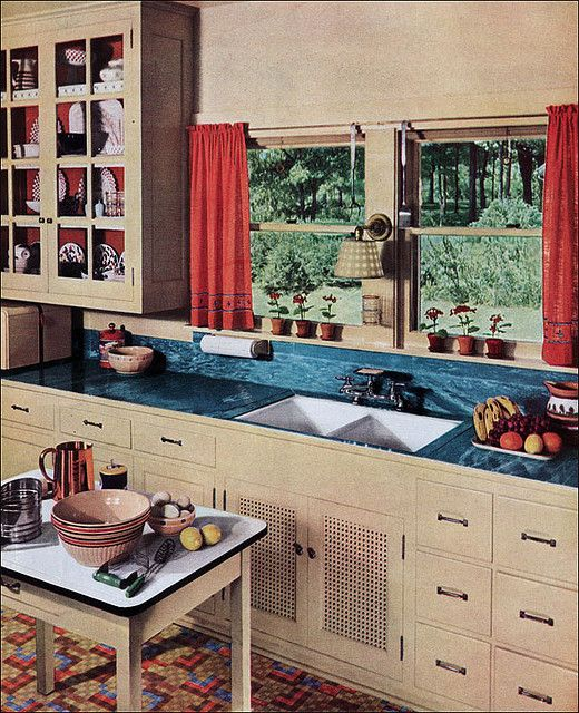 1936 Kitchen With Linoleum Counter