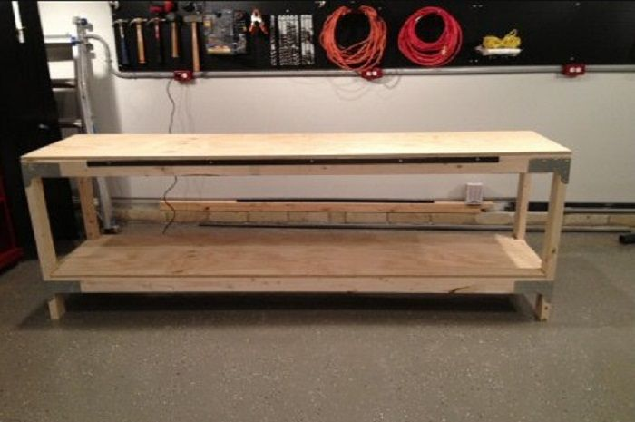 how to build a shop workbench