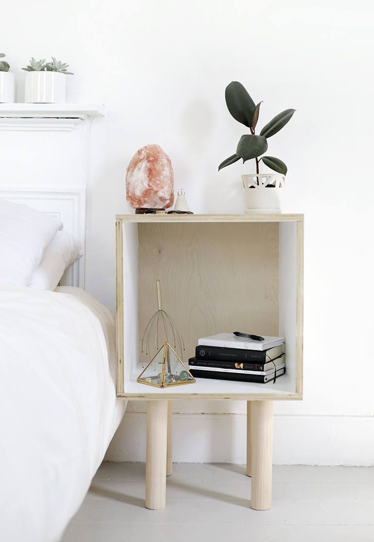 Diy Storage Solutions 7 Simple Affordable From The Merrythought Cheap Bedside Tables Table Decor