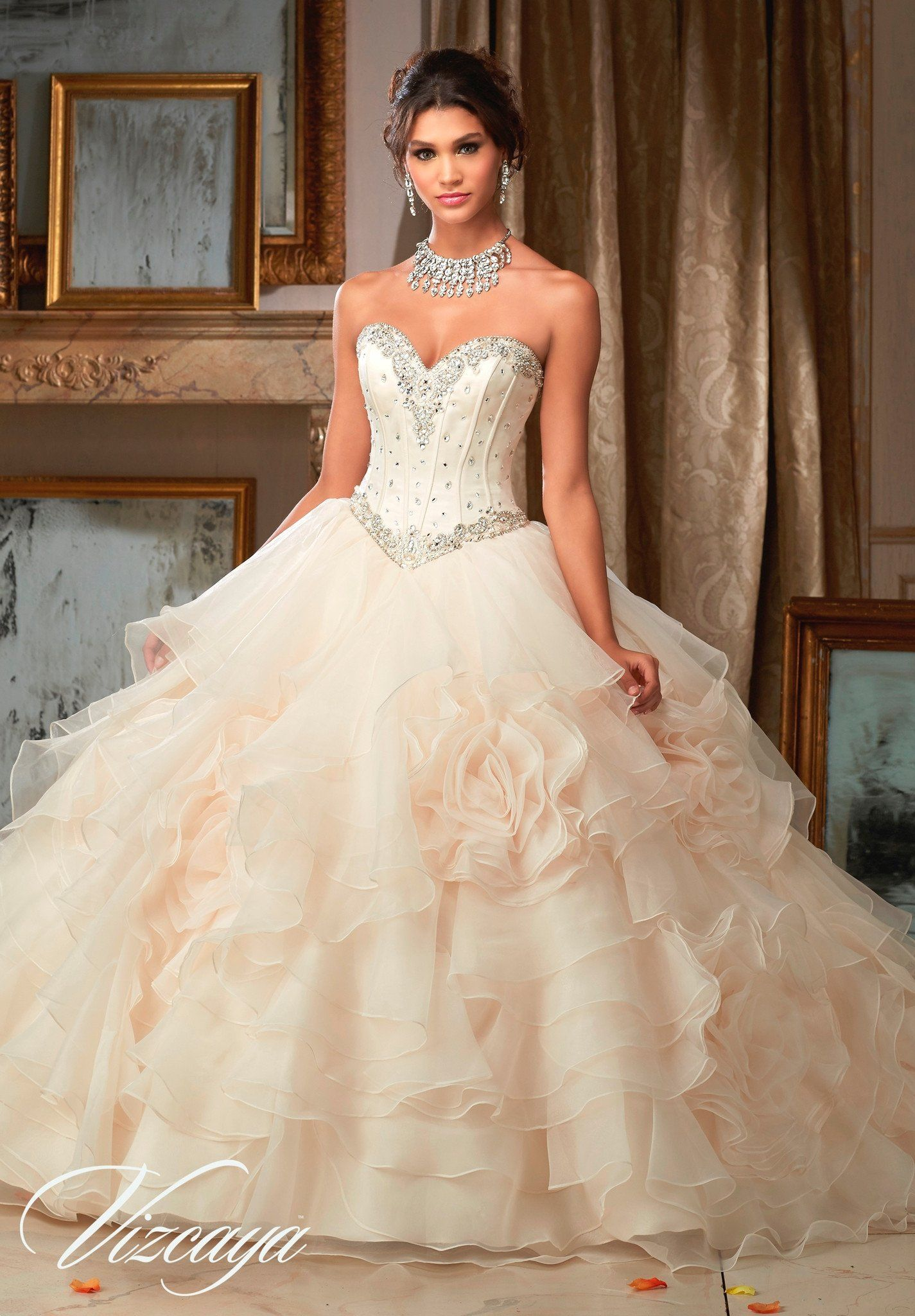 48814388ad Mori Lee Quinceanera Dress 89105 - Champagne Size 12 in 2019