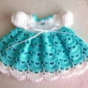 Newborn Crochet Baby Dress PATTERN - via @Craftsy