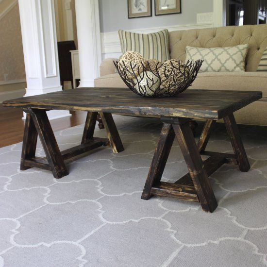 Diy This Awesome Sawhorse Coffee Table For Under 25 My Style Pinterest Coffee Diy