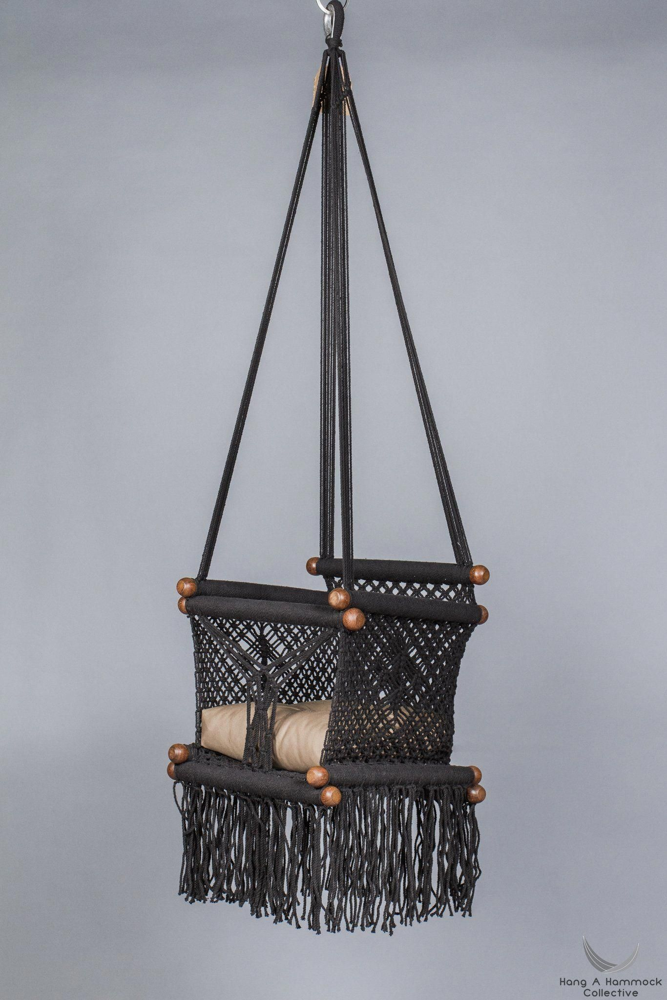 The baby swing chair is handmade with macrame tequniques this swing
