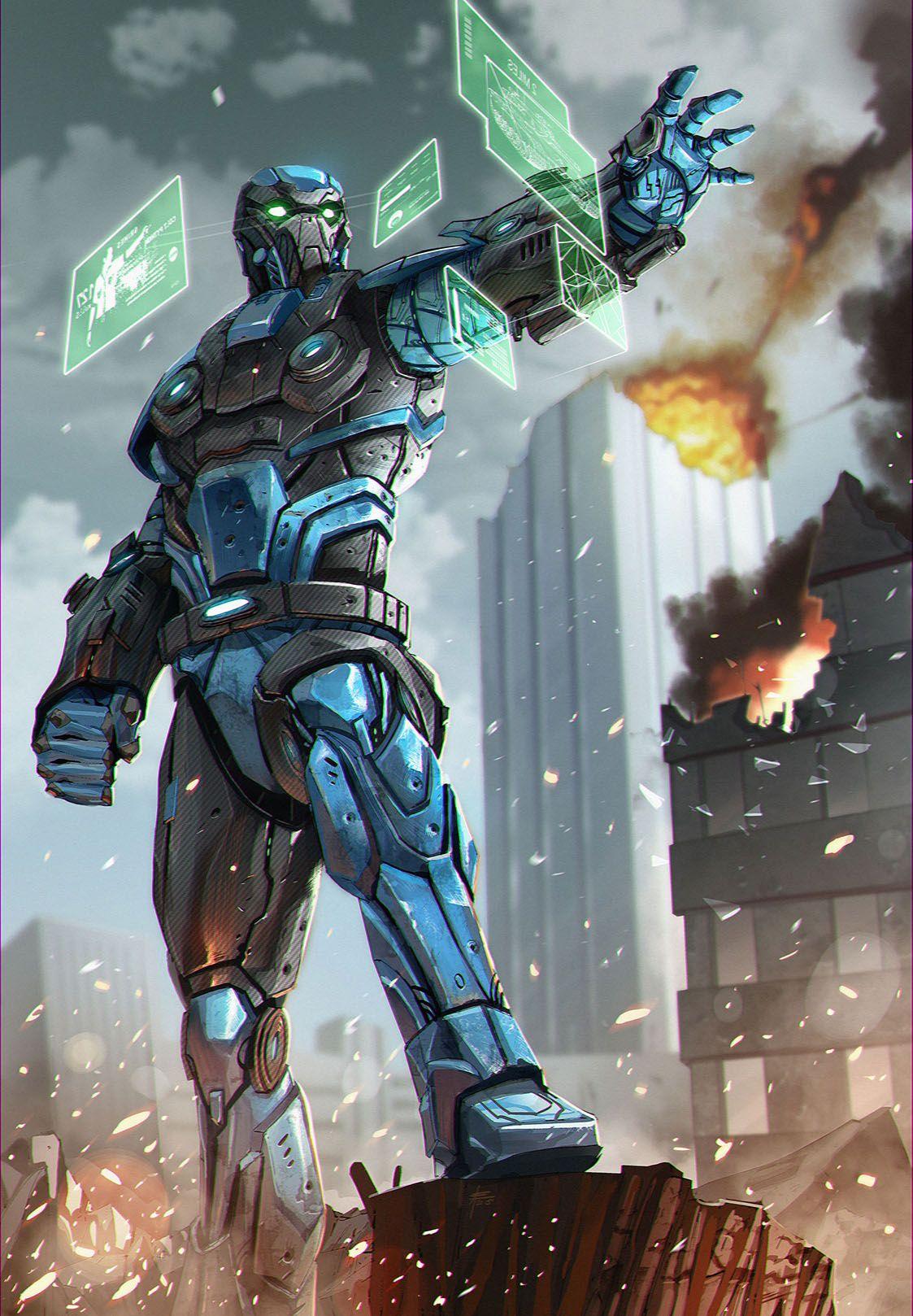 Cyber Elite Guard | Cyberpunk | Pinterest | Cyber, Sci fi ...