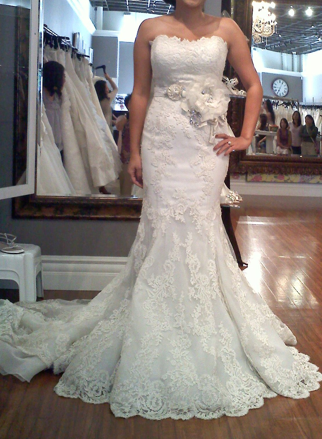 Me in the Enzoani Dakota Dress w/ the Diana Sash. Runner-up dress ...