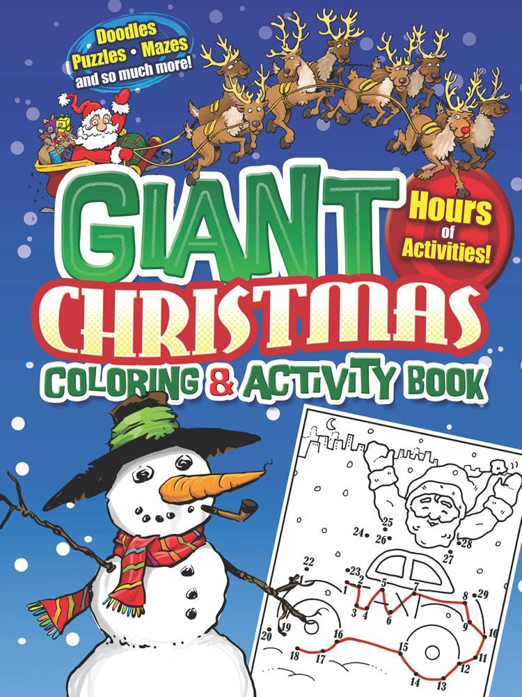 giant christmas coloring and activity book - Giant Christmas Hours