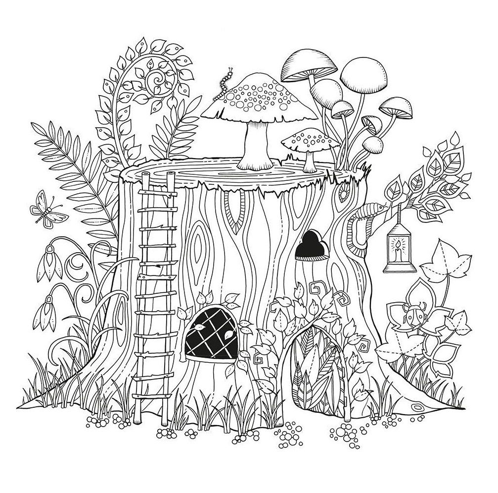 Foret Enchantee Enchanted Forest By Johanna Basford Free Coloring Pages Garden Coloring Pages Coloring Pages For Grown Ups