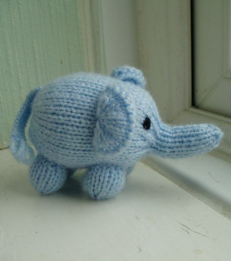 Craft Passions: Mini Elephant..# free #knitting pattern link here ...