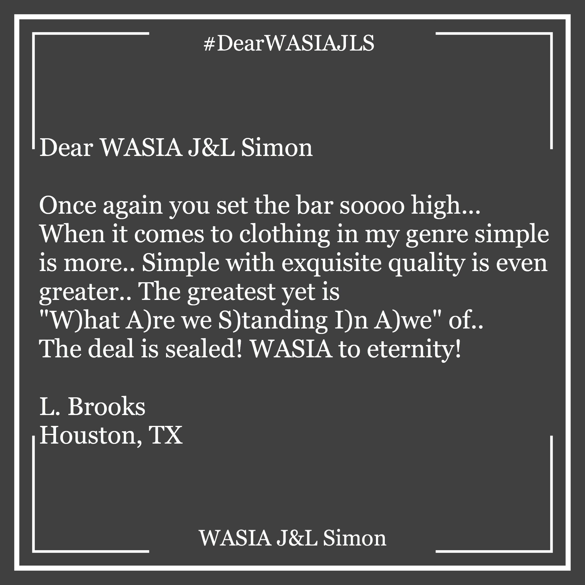 """Simple with exquisite quality is even greater..""#dearwasia #fw #WASIA"