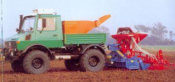 Unimog Pulling Seeder