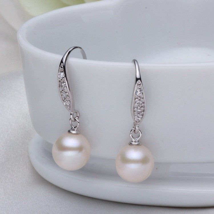 wholesale stud collections sterling classic silver pearl earrings products