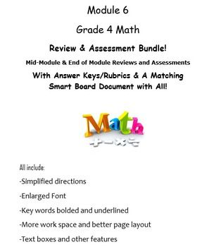 Grade 4, Math Module 6 REVIEW & ASSESSMENT w/Ans keys