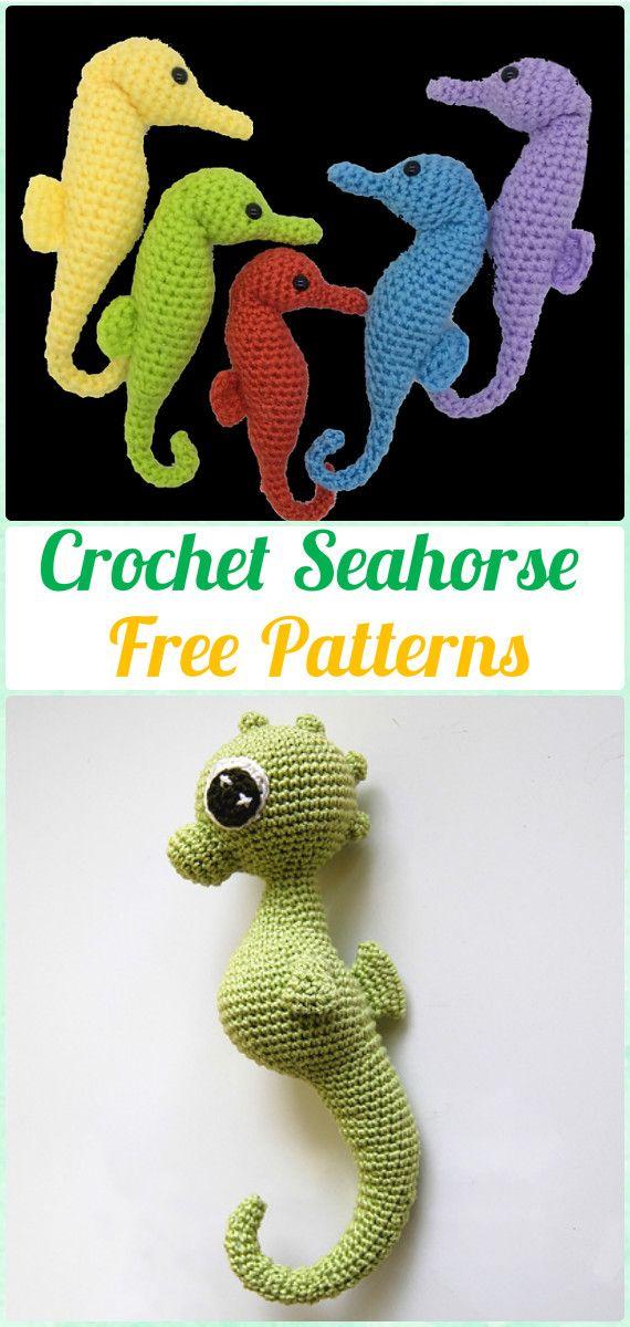 Crochet Amigurumi Seahorse Free Pattern - Amigurumi Crochet Sea ...