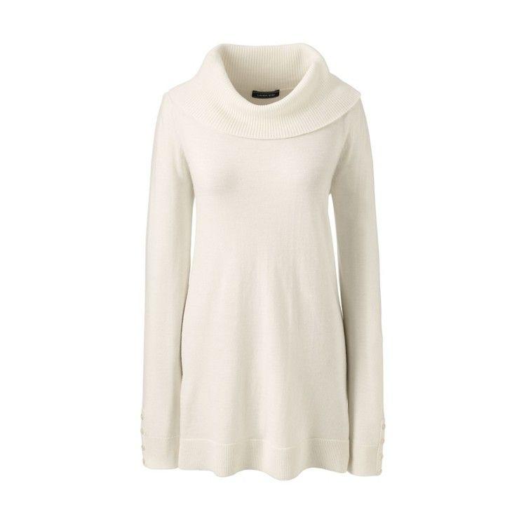 f9d41190d18 Cream petite merino cowl neck tunic top | Ready made merino wool ...