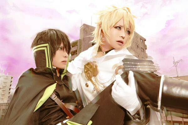 Mika and yuu yaoi owari no seraph / seraph of the end cosplay