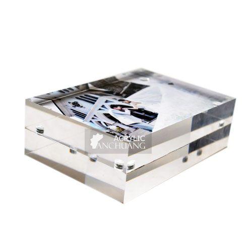 Acrylic Block Photo Magnetic Frames