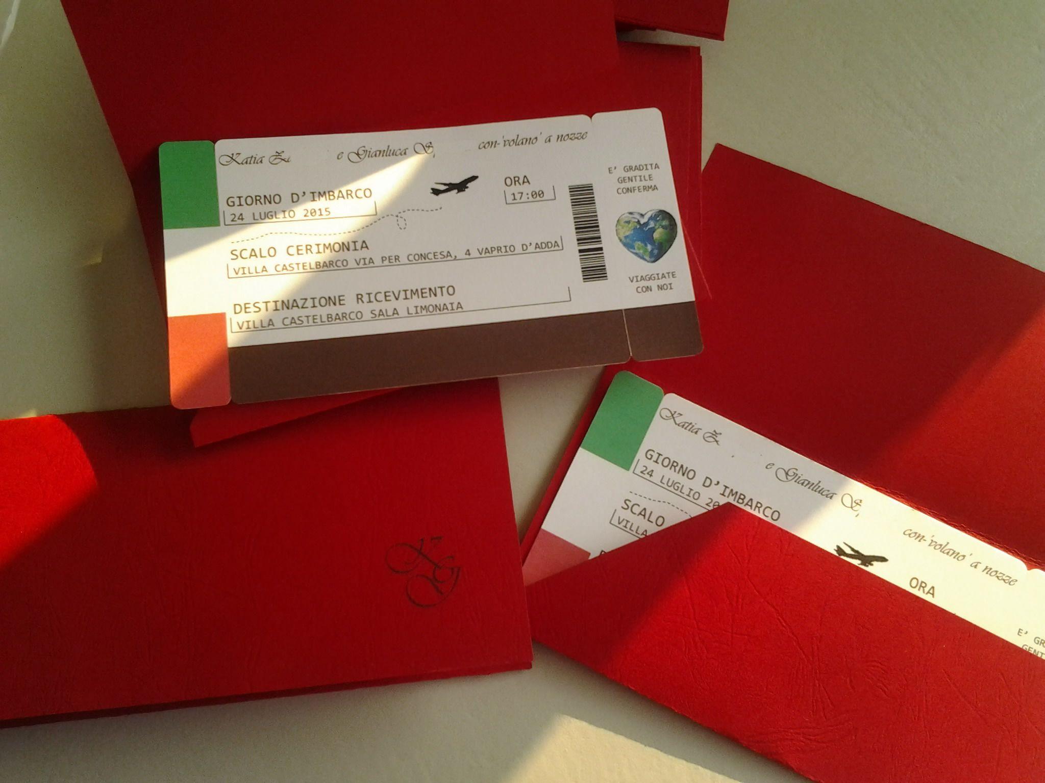 Partecipazioni Biglietto Aereo A Tema Viaggio Biglietti Aerei Partecipazione Viaggio