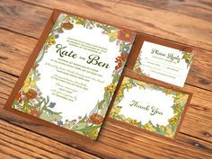 australian native flowers watercolour wedding invitation Google
