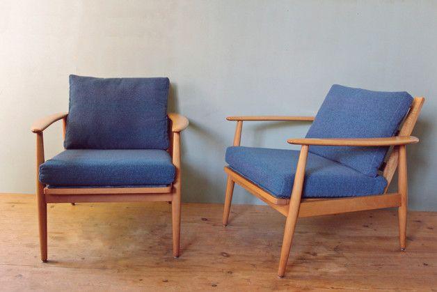 vintage sessel 2 sessel d nisches design 60er ein. Black Bedroom Furniture Sets. Home Design Ideas