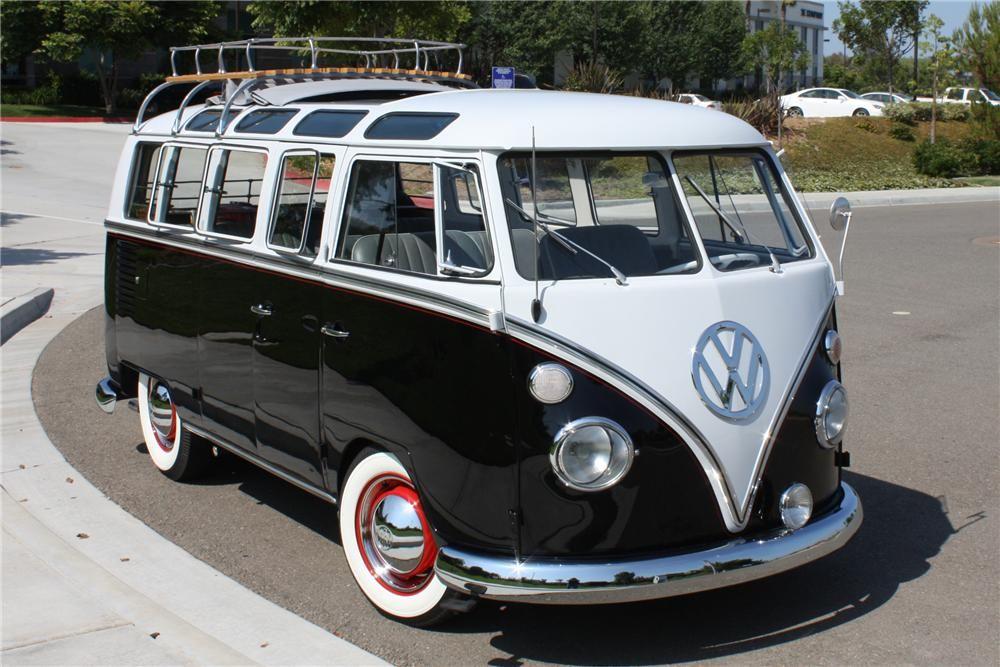 Award Winning Vw 21 Window Samba Bus With Cloth Sunroof
