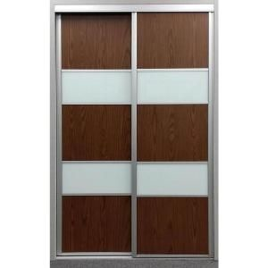 Contractors Wardrobe 48 In X 96 In Sequoia Walnut And White