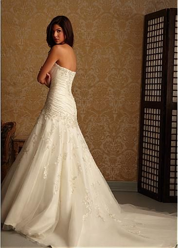Charming Taffeta & Tulle A-line Sweetheart Neckline Dropped Waistline Wedding Dress