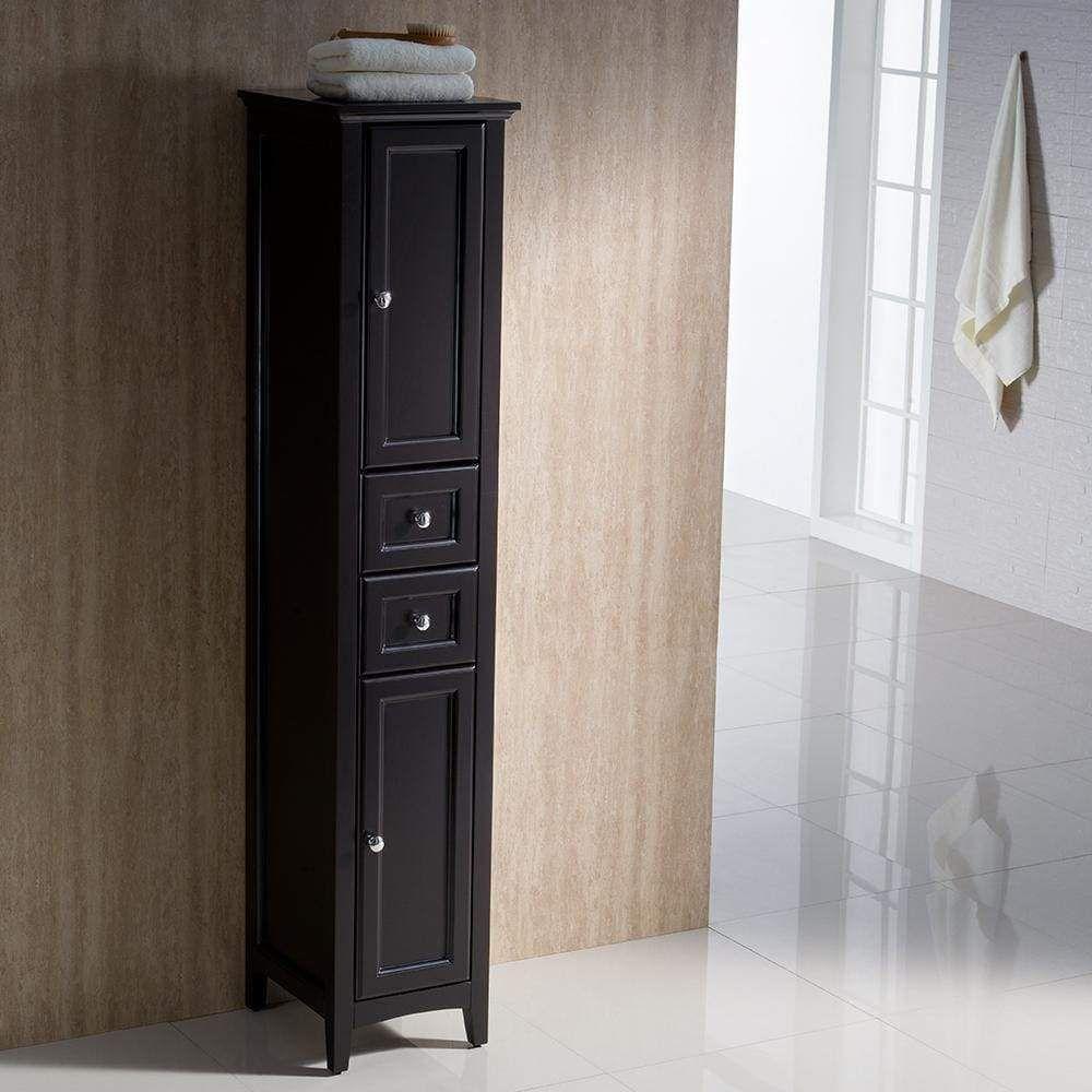 Fresca Oxford Espresso Tall Bathroom Linen Cabinet Bathroom Linen Tower Bathroom Linen Cabinet