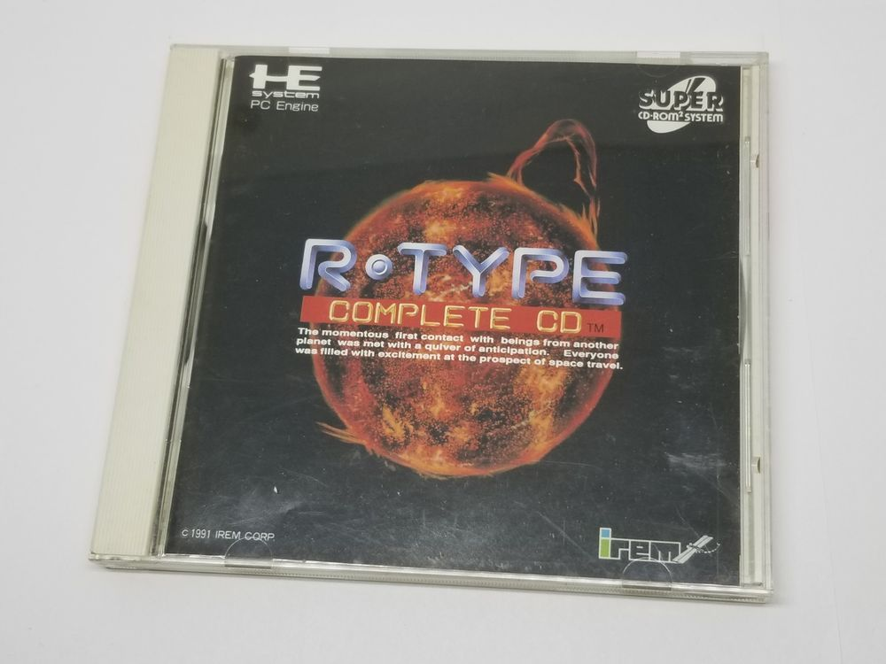 NEC PC Engine Super CD-Rom R-TYPE COMPLETE CD Shooter 1227A9