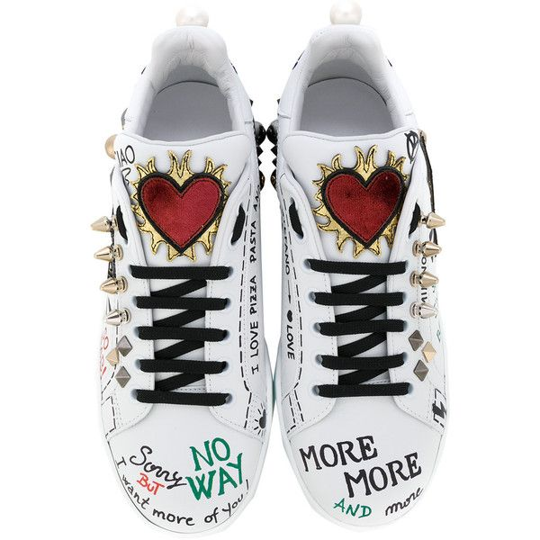 c29d1a66d Dolce   Gabbana musical patch lace-up sneakers ( 1