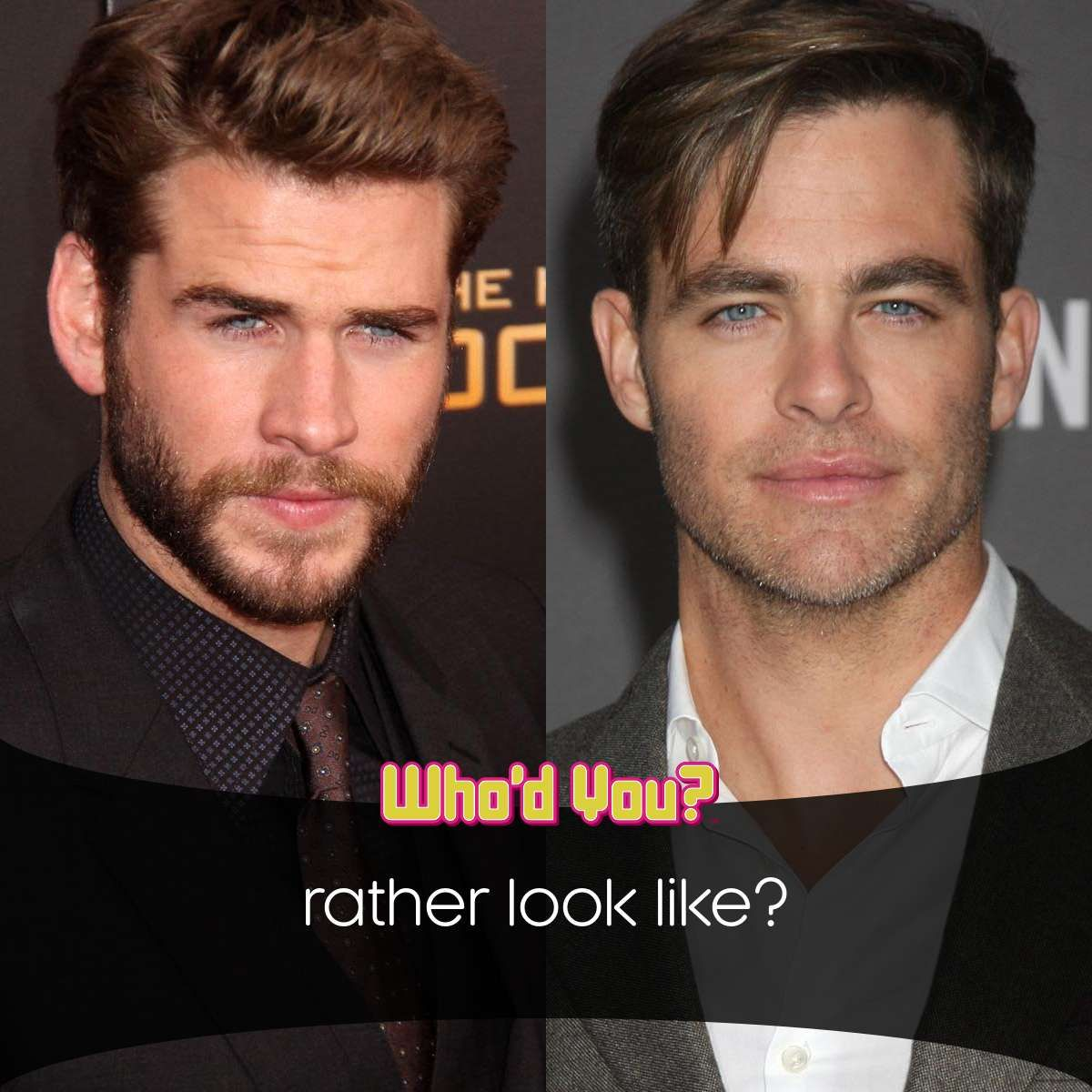 Liam Hemsworth Or Chris Pine? If You Could Look Like