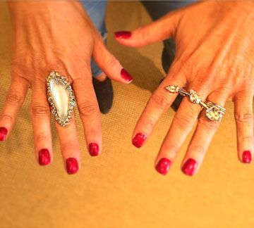 Our beautiful customer @lady_janmurphy wearing her new Alexis Bittar rings!