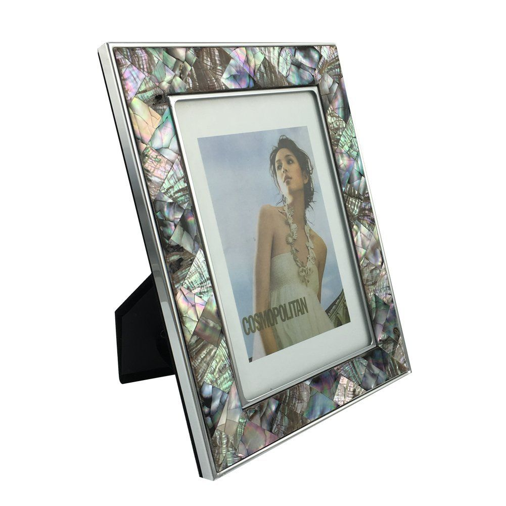 Shell Photo Frame Home And Kitchen Accessory Abalone Shells Multicolors 8 X 10 Inch You Can Find Out More Details At The With Images Frame Picture Frames Photo Frame