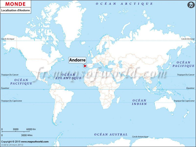 Où Est Andorre Location Map Of Andorra On World Map Pays - Where is andorra