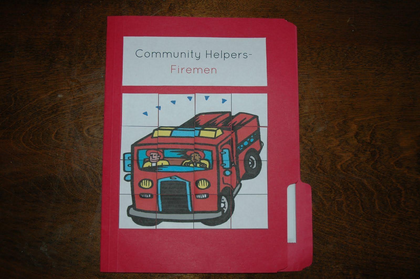 Community Helper Matching Worksheet