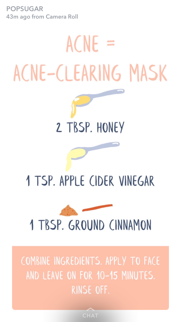 Homemade face mask to help clear acne #homemadefacelotion