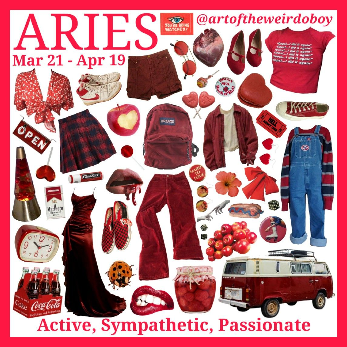 Ig Artoftheweirdoboy Made This Aries Aesthetic Aries Outfits Zodiac Sign Fashion