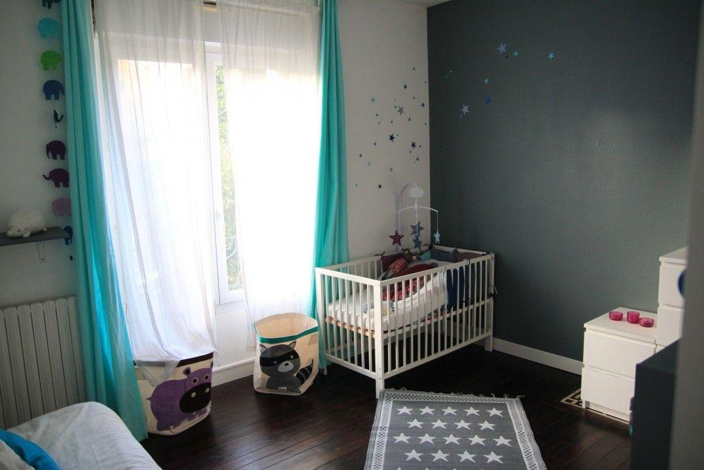 chambre et gris bleu mauve basephine cuisine enfants pinterest - Chambre Enfant Mur Bleu Gris