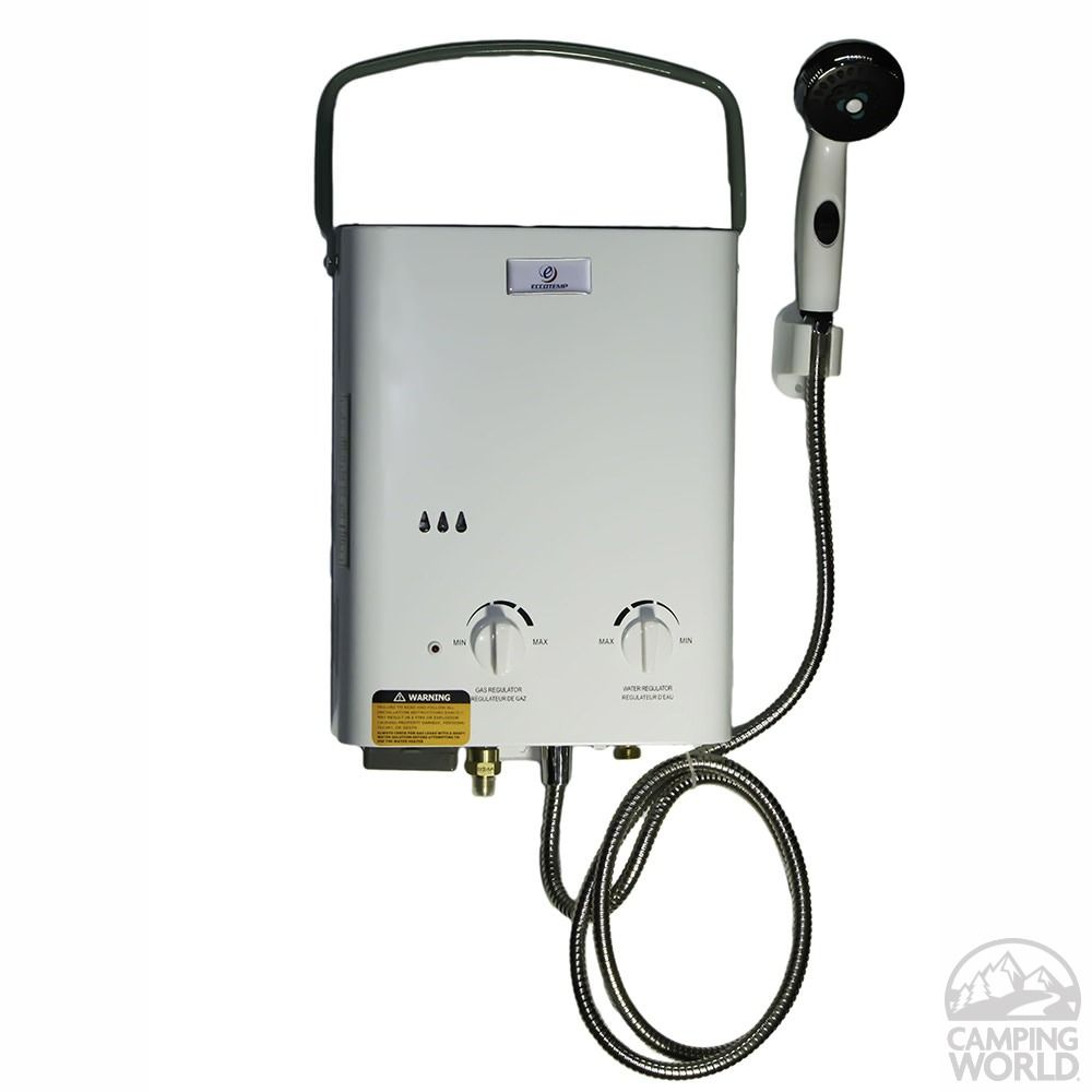 Eccotemp l5 portable tankless water heater water - Exterior hot water heater enclosure ...