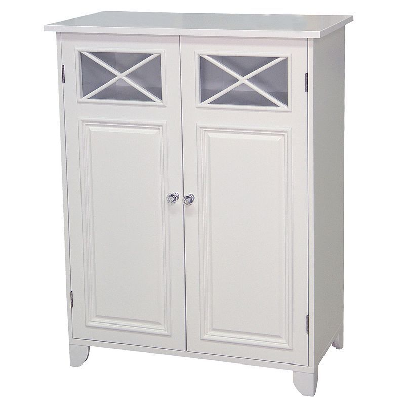 Elegant Home Fashions Dawson 2 Door Floor Cabinet Small Bathroom Furniture Elegant Homes House Styles
