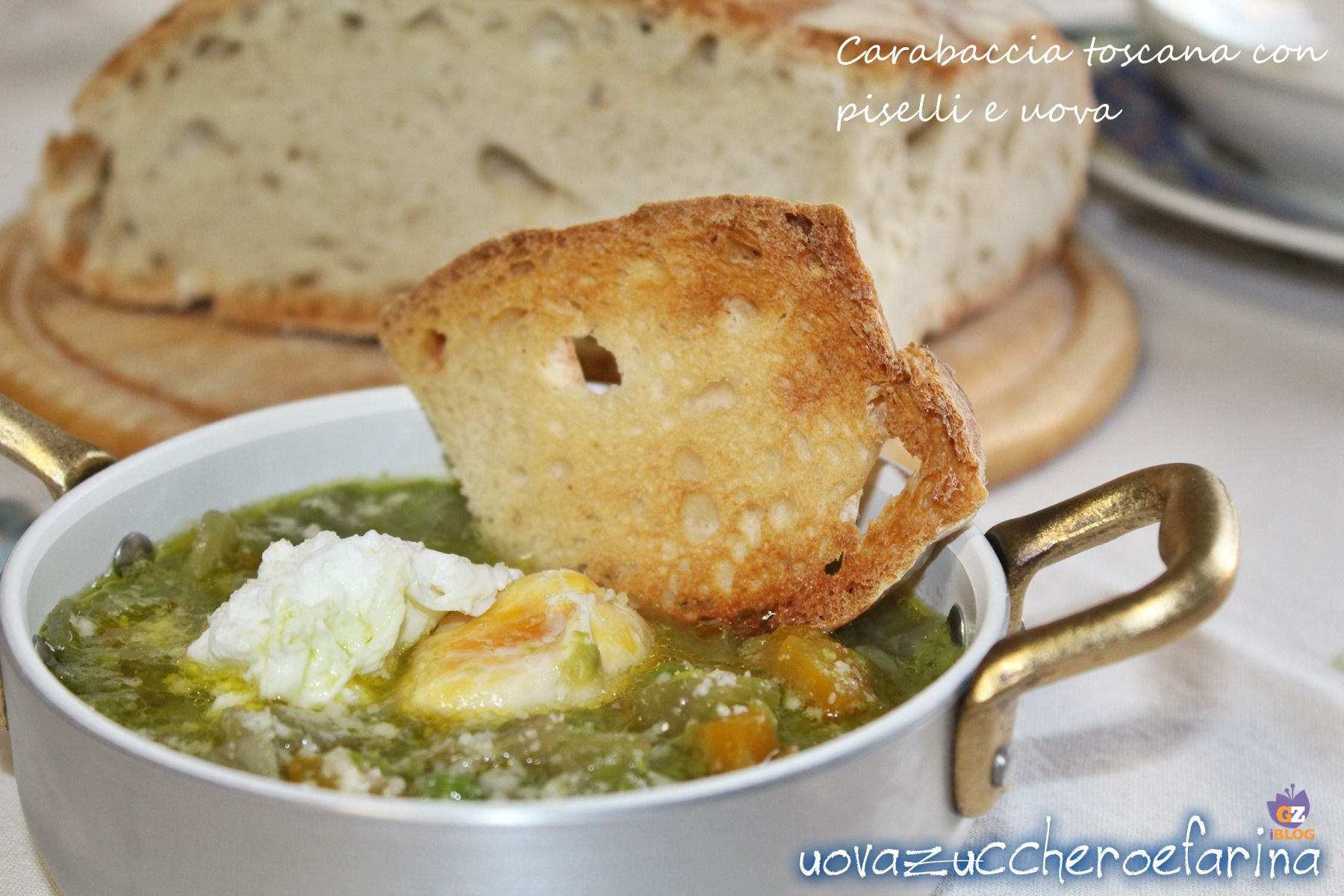 Carabaccia toscana con piselli e uova | Zuppe | Ricette