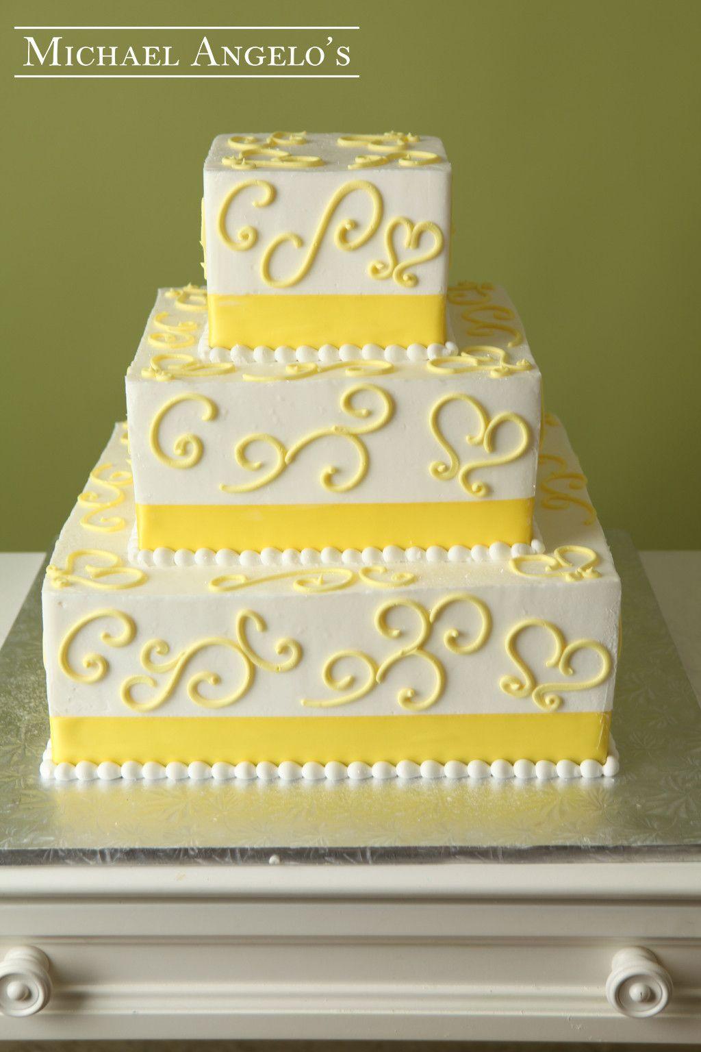 Michaelangelo wedding dress  Yellow Swirls Ribbons  Events Weddings Cakes Design  Shape
