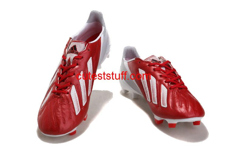 Adidas F50 Adizero Micoach Leather FG Messi Boots Red White  Red  Womens   Sneakers d8b3d8d4d