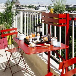 Salon de balcon Fermob Bistro piment : Table pliante 2 chaises ...