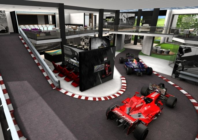 F1 & Golf, A concept we made for a Hotel