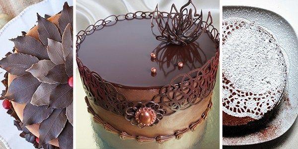 как украсить торт шоколадом | Десерты, Оригинальные торты ...